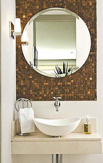 Lavabos são continuidade do espaço social da casa  ACESSAcom  Casa -> Cuba Para Banheiro Em Formato Ovalado
