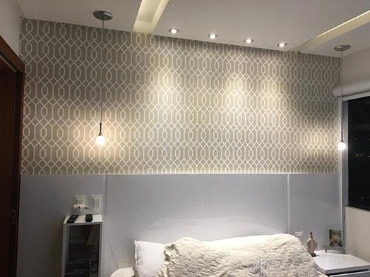 Image result for parede revestida com tecido
