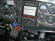 Foto de painel de avião