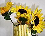 Foto de um vaso de flor reciclado