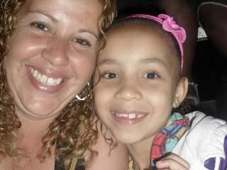 Foto de mãe e filha