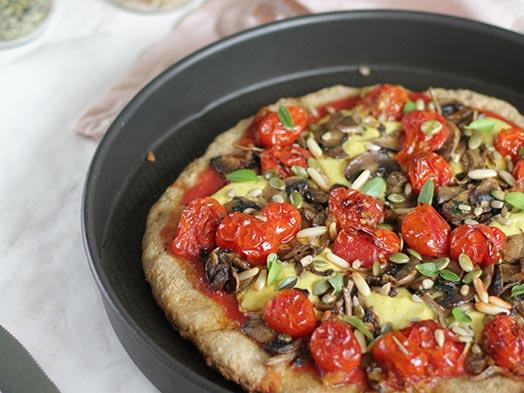 Massa de pizza vegana e sem glúten | ACESSA.com - Só Sabor