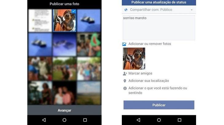 Aprenda a publicar fotos usando o facebook lite acessa com informaes do techtudo stopboris Image collections
