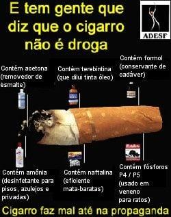 O dano de fumar como lançar